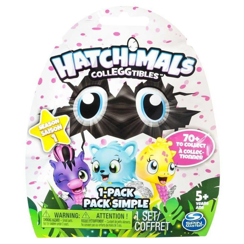 HATCHIMALS COLLEGGTIBLES SAQUINHO SURPRESA 1 PEÇA